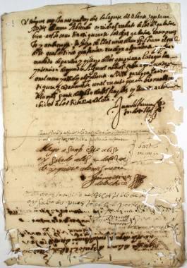 Inicio > Promoción Cultural > Recursos Didácticos > Corsarios en las Costas Cartageneras (siglos XVI y XVII) Documentos y Transcripciones (6ch02287_00012_r)