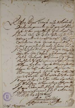 Inicio > Promoción Cultural > Recursos Didácticos > Corsarios en las Costas Cartageneras (siglos XVI y XVII) Documentos y Transcripciones (5ch02139_00025_1)