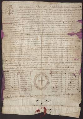 1246, Enero, 16. Jaén. Privilegio rodado de Fernando III concediendo a Cartagena el Fuero de Córdoba.