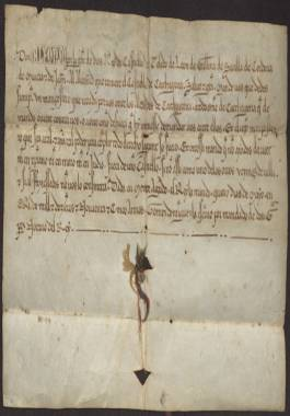 1257, Mayo, 4. Alfonso X al alcaide del castillo de Cartagena, ordenándole que nombre un mampostero para que recaude ante el alcalde de la ciudad.