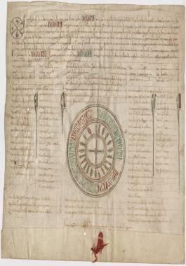 1257, mayo, 6: Alfonso X a la Ciudad de Cartagena, otorgando a sus vecinos la franqueza del diezmo de pan y vino.