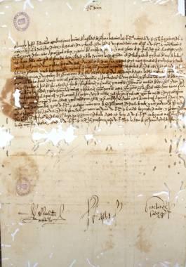 1516. Carta del Concejo de Cartagena al Arzobispo de Granada comunicando el bombardeo de las murallas y el puerto por los genoveses