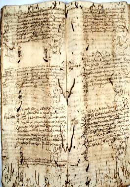 1603-1604. Libro Registro de las visitas hechas a los navíos que llegan al puerto de Cartagena.