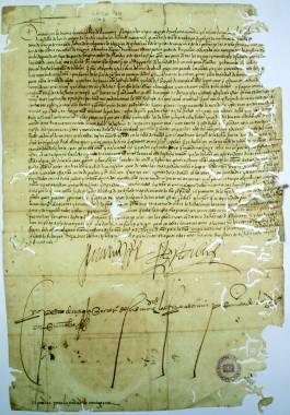 1522 Febrero 13. Carta real de Carlos I perdonando a los comuneros de Cartagena.
