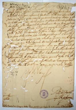 1631, Octubre, 26. Real Provisión de Felipe IV a la Ciudad de Cartagena, por la toma de un bergantín que se apresó en la Isla Grosa con veinticinco moros.
