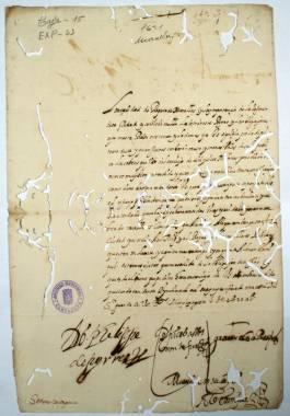 1621. Respuesta del Concejo de Murcia a carta del de Cartagena, expresando su interés por la reparación de las murallas de esta última ciudad.
