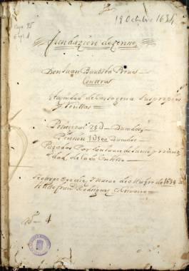 1638. Copias de escrituras de censo sobre los propios y rentas de la ciudad por Juan Bautista Prevé para la conducción de las aguas de los ríos Castril y Guardal.