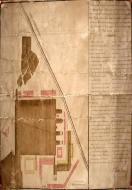1764. Plano del Arsenal levantado por el ingeniero Mateo Vodopich.