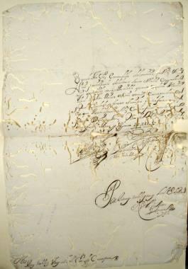 1704. Carta de la Ciudad de Vera a la de Cartagena, participándole la noticia de la acogida de la barca Santa Eulalia, cargada de trigo.
