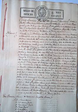 1821. Acta de las elecciones realizadas en Pozo Estrecho para la constitución de su Ayuntamiento.