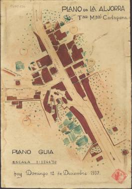 1937. Plano de La Aljorra con localización de tropas.