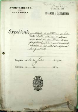 4 Julio 1910. Expediente de obra particular tramitada por la Comisión de Ensanche y Saneamiento.