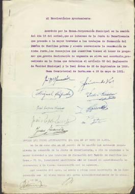 1931. Expediente formado para la confección del padrón de pobres.