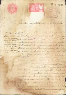 1903, Diciembre, 21: Licencia concedida al Banco de Cartagena para instalar sus oficinas en la Plaza de San Francisco.