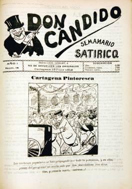 1912, julio, 19 Alusión en la portada del semanario satírico Don Cándido a la homosexualidad masculina.
