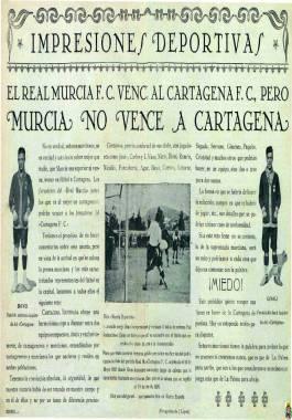 1926, enero, 15 Comentarios en Cartagena Ilustrada a un partido de fútbol entre el Cartagena F.C. y el Real Murcia F.C