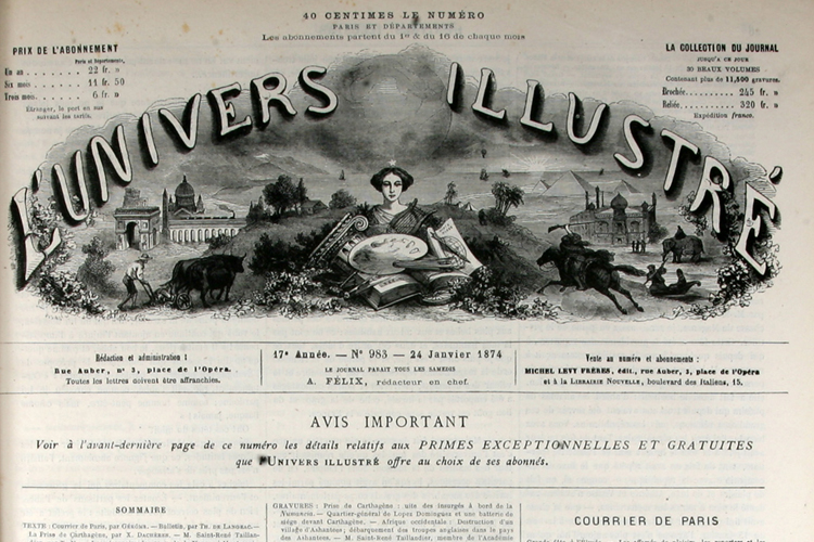 L'univers Illustré.1874